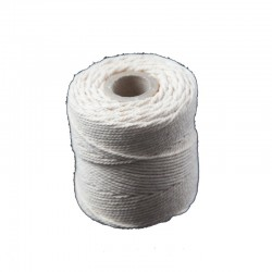 Cotton 1mm 65 m., white