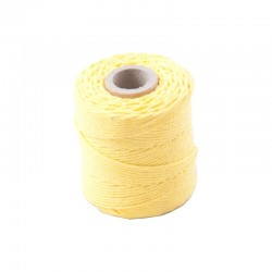 Cotton 1mm 65 m., yellow