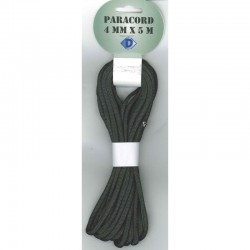 Paracord 4 mm x 5 m, black