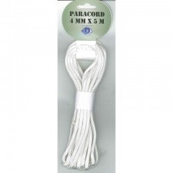 Paracord 4 mm x 5 m, white