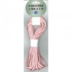Paracord 4 mm x 5 m, pink