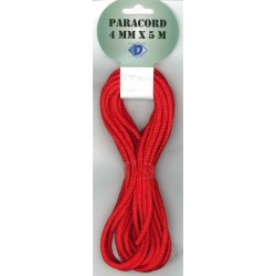 Paracord 4 mm x 5 m, red