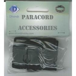 Paracord sluiting 15 mm 5 st, zwart