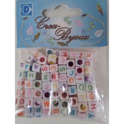 Alphabet bead mix 100 pcs