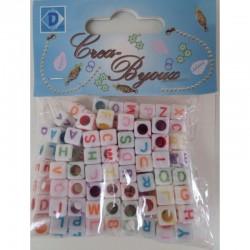 Alphabet bead mix 100 pcs