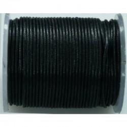 Imitatie lederriem 1 mm, 20 m, zwart
