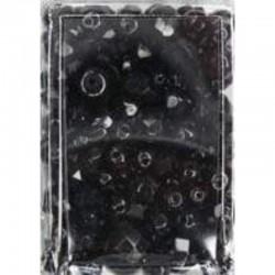 Imitation pearl mix 50 gr, Black
