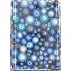 Imitation pearl mix 50 gr, Blue