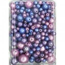 Imitation pearl mix 50 gr, Lilac