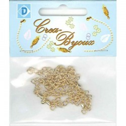 Claspchain 7 pcs gold colour