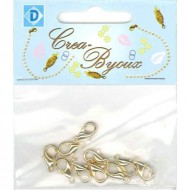 Necklace clasp 13 mm gilt 10 pcs