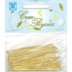 Needle pin 55 mm brass 60 pcs