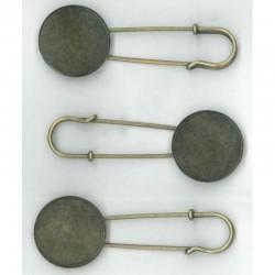 Broche voor Fimo/Cernit, 3 st 70x25 mm