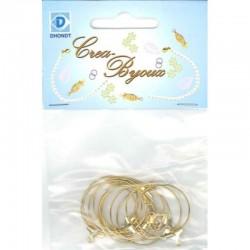 Earring loop 25 mm gilt 6 pr