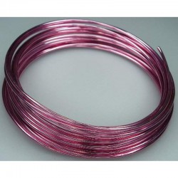 Alu wire 2 mm, 5 m Pink