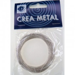 Metallic wire silver 0.3 mm 25 m