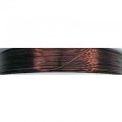 Crea Metal Alu wire 0.7 mm, 25 m, Brown