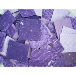 Natural paper scraps 50 gr (200-250 pcs) Violet