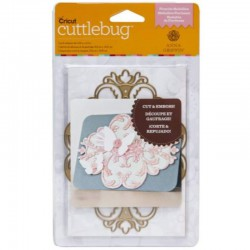 Cuttlebug Embossing Die Anna Griffin Floursih Medaillon