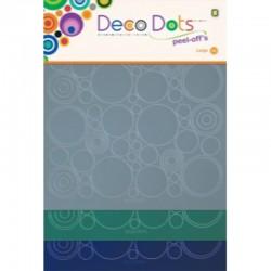 Deco Dots, 3 sheet 20 x 20 cm, Blue