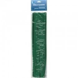 Chenille 25x30 cm green, 12 ba