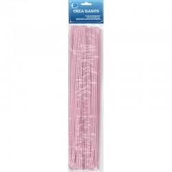 Chenille 25x30 cm pink 12 bag
