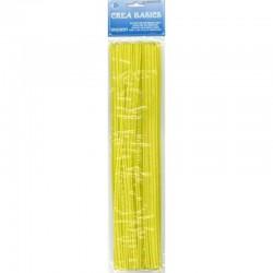 Chenille 25x30 cm geel, 25st*12 zak