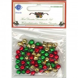 Kattebel 6 mm 60 st 3 kl Goud, rood, groen