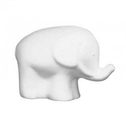 Polystyrene elephant