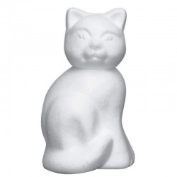 Polystyrene cat large 23 cm