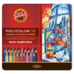 Polycolor colorcrayons, Tin Box à 24 pcs