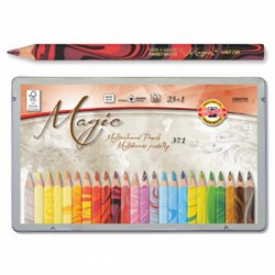 Magic, Pencil with multicoloured lead, 23+1 pcs