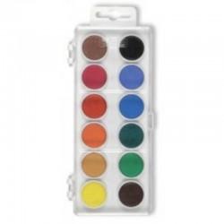 Watercolours 22.5 mm, 12 colours