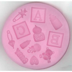 Silicon mould,  Baby ABC