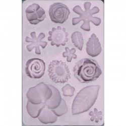 Silicon mould, Flowers & Leaves