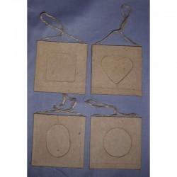 Paper Shape Frame 4 ass7.5x7.5x0.3 cm