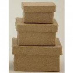 Paper Shape Set/3 Square 4 - 5.5 - 7 cm