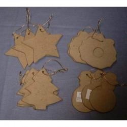 Paper Shape Xmas ornaments (12 pcs)