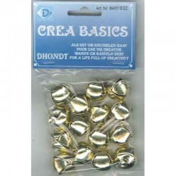 Jingle bell 18 mm brass 15 pcs,10 bag