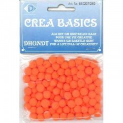 Pompon 7 mm 100 pcs orange