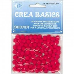 Pompon 7 mm 100 pcs red