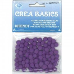 Pompon 7 mm 100 pcs purple