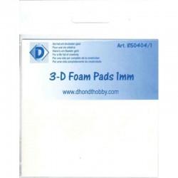 Double sided foamtape 1x5x5 mm 10 x 10 cm 400 pcs