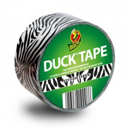 Duck tape design 48 mm x 9.1 m, Stylish Zebra