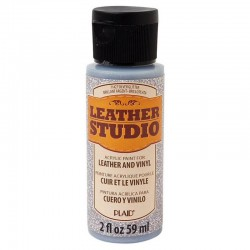 Leather Studio Paint 2 Oz Glitter Silver