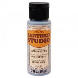 Leather Studio Paint 59ml Glitter Silver