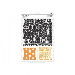 A4 Die Set - Marquee Alphabet (34 pcs)