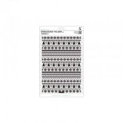 A4 Embossing Folder - Fairisle Pattern