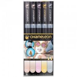 Chameleon 5-Pen Set Pastel