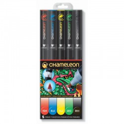 Chameleon 5-Pen Set Primary